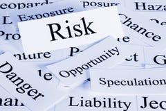 Concepto del riesgo Foto de archivo