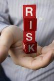 Concepto del riesgo Imagen de archivo libre de regalías