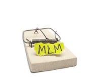 Concepto del riesgo de MLM Foto de archivo libre de regalías