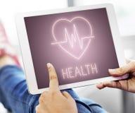 Concepto del símbolo del icono del latido del corazón de la salud foto de archivo libre de regalías