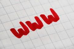 Concepto del símbolo del Internet del World Wide Web imagen de archivo