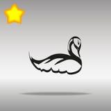 Concepto del símbolo del logotipo del botón del icono del cisne negro de alta calidad Imagen de archivo