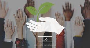 Concepto del salvar vidas de la planta de la naturaleza del ambiente libre illustration