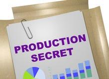 Concepto del secreto de la producción imagen de archivo libre de regalías