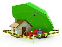 Concepto del seguro Imagen de archivo