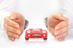 Concepto del seguro de coche.