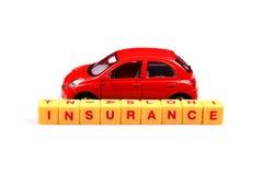 Concepto del seguro de coche Foto de archivo