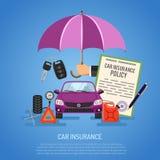 Concepto del seguro de coche Imagen de archivo