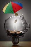 Concepto del seguro de la protección de la riqueza Foto de archivo libre de regalías