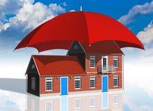Concepto del seguro de las propiedades inmobiliarias Imagen de archivo