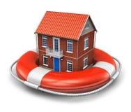 Concepto del seguro de las propiedades inmobiliarias Fotos de archivo