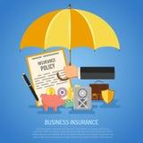 Concepto del seguro de negocio Fotografía de archivo
