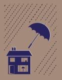 Concepto del seguro de propiedad Foto de archivo libre de regalías