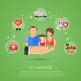 Concepto del seguro de vida Foto de archivo libre de regalías
