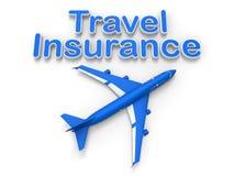 Concepto del seguro del transporte aéreo ilustración del vector