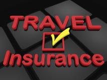 Concepto del seguro del viaje Fotos de archivo