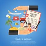 Concepto del seguro del viaje Imagenes de archivo