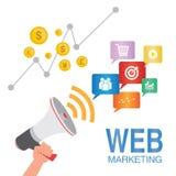 Concepto del seo del márketing del web Foto de archivo libre de regalías