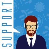 Concepto del servicio de atención al cliente del vector Soporte técnico Ilustración del Vector