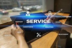 Concepto del servicio de atención al cliente y de la relación Concepto del asunto Fotografía de archivo