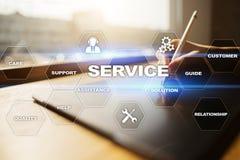 Concepto del servicio de atención al cliente y de la relación Concepto del asunto Foto de archivo
