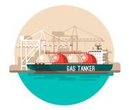 Concepto del servicio de entrega Cargamento del buque de carga del envase, cargador del camión, almacén Fotografía de archivo