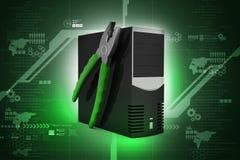 Concepto del servicio de reparación del ordenador ilustración del vector