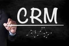 Concepto del servicio del análisis de la gestión de CRM del cliente empresa Foto de archivo