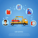 Concepto del servicio del coche Foto de archivo