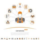 Concepto del servicio del coche Fotos de archivo libres de regalías