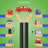 Concepto del servicio del coche Imagenes de archivo
