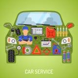 Concepto del servicio del coche Fotografía de archivo