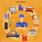 Concepto del servicio del coche Imágenes de archivo libres de regalías