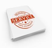 Concepto del servicio del sello Foto de archivo