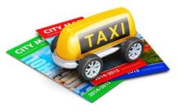 Concepto del servicio del taxi ilustración del vector
