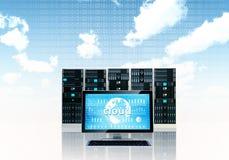 Concepto del servidor de la nube Fotografía de archivo