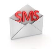 Concepto del SMS stock de ilustración
