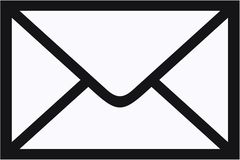 Concepto del sobre del correo Imagenes de archivo