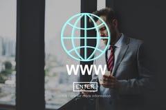 Concepto del Social de la conexión de Internet del sitio web del WWW foto de archivo libre de regalías