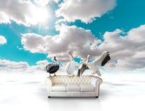 Concepto del sofá Imágenes de archivo libres de regalías
