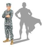 Concepto del soldado del héroe Imagenes de archivo