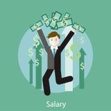 Concepto del sueldo ilustración del vector