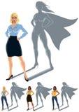 Concepto del super héroe de la mujer