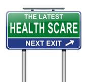 Concepto del susto de la salud. Foto de archivo