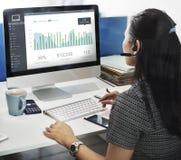 Concepto del tablero de instrumentos del monitor de la actividad del cliente Fotografía de archivo libre de regalías
