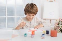 Concepto del talento de la creatividad del dibujo del niño de Little Boy fotografía de archivo