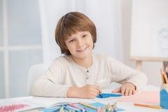 Concepto del talento de la creatividad del dibujo del niño de Little Boy fotografía de archivo libre de regalías
