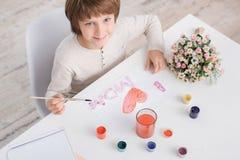 Concepto del talento de la creatividad del dibujo del niño de Little Boy fotos de archivo libres de regalías