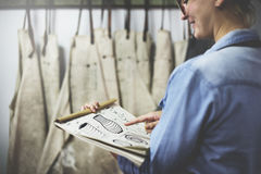 Concepto del taller de Handmade Artist Showroom del artesano imagen de archivo libre de regalías