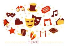 Concepto del teatro Idea de una demostración y de un entretenimiento ilustración del vector